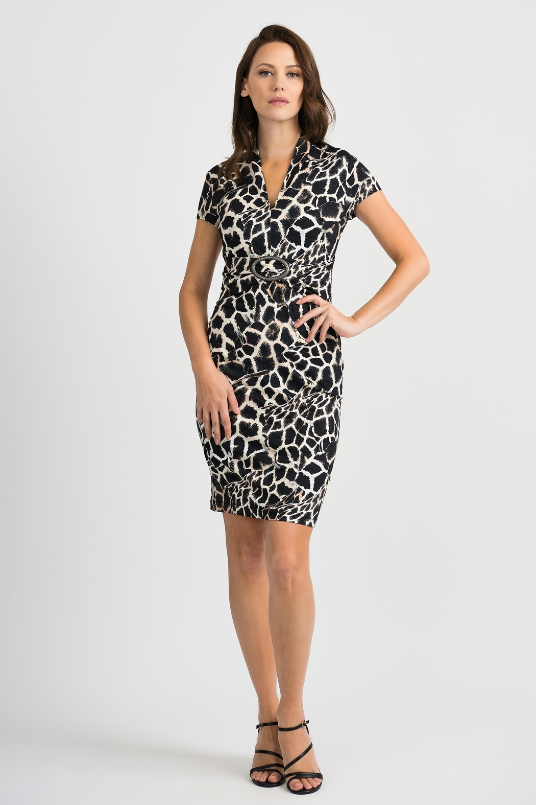 Joseph Ribkoff Giraffe Patterned Dress - Main Image