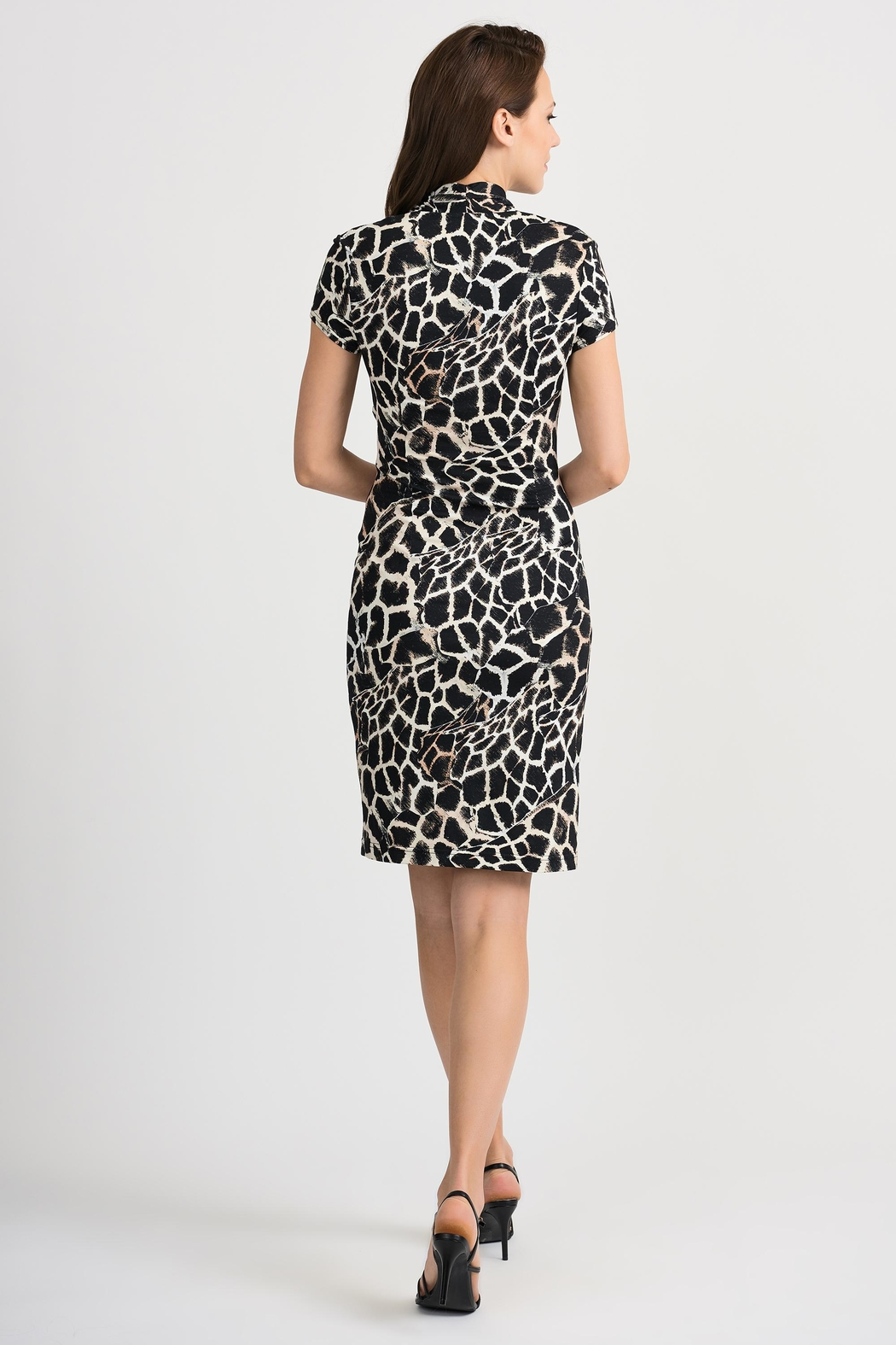 Joseph Ribkoff Giraffe Patterned Dress - Side Cropped Image