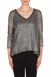Joseph Ribkoff Glitzy V Neck Tunic Top - Product Mini Image