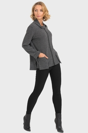 Joseph Ribkoff Grey Cowl Top - Front cropped