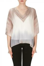 Joseph Ribkoff Grey Off White Top - Product Mini Image