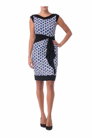 Joseph Ribkoff Black Printed Dress - Front cropped