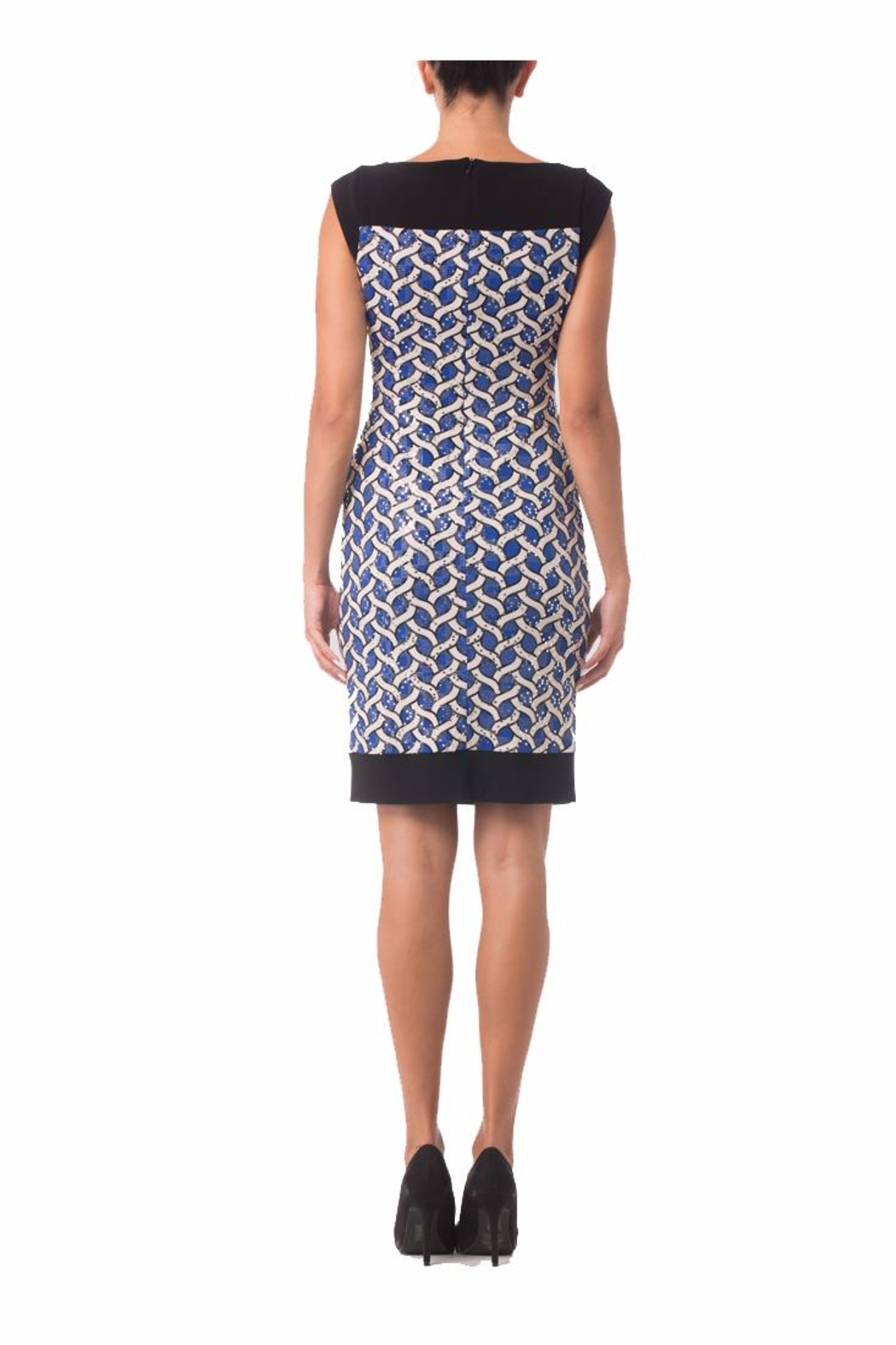Joseph Ribkoff Black Printed Dress - Front Full Image