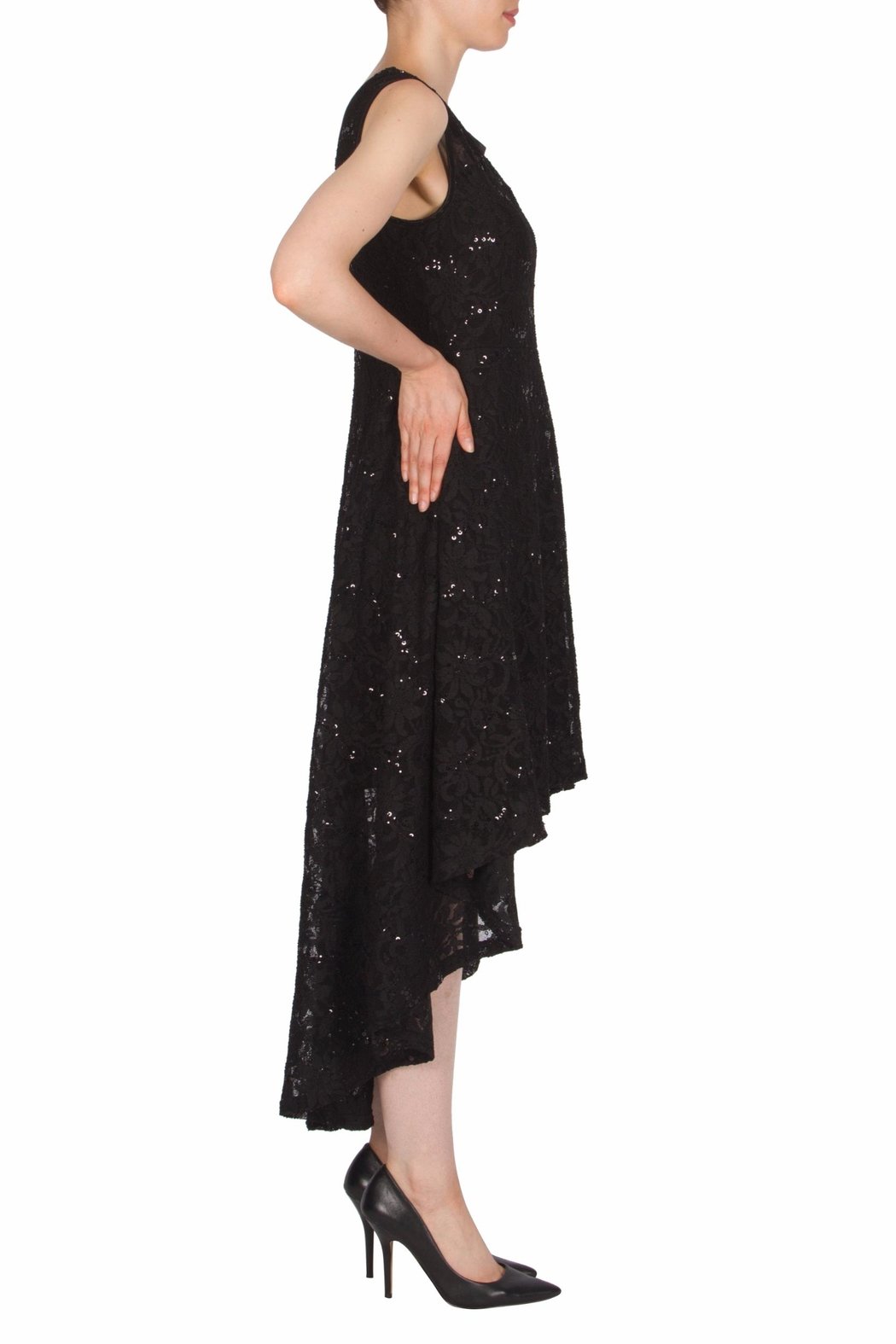 Joseph Ribkoff High Low Lace Dress - Front Full Image