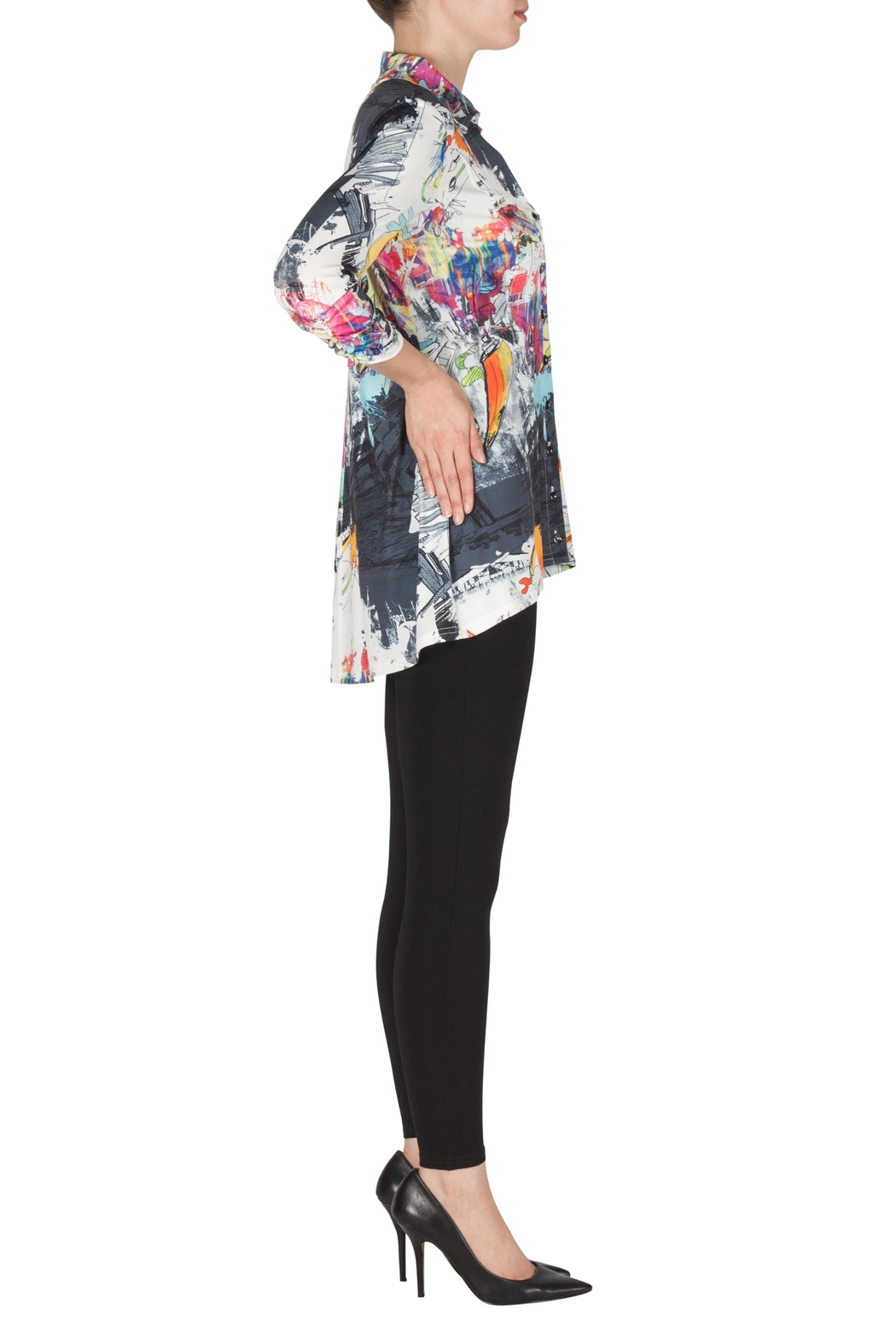 Joseph Ribkoff Hi-Low Shirt Tunic - Front Full Image