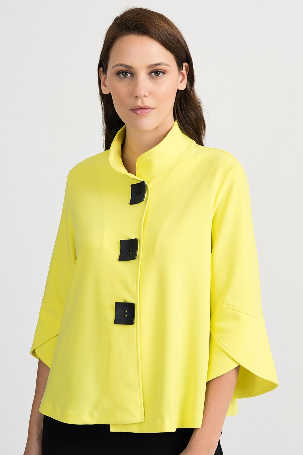 Joseph Ribkoff High Collar Jacket - Front Cropped Image