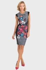Joseph Ribkoff Houndstooth Floral Dress - Product Mini Image