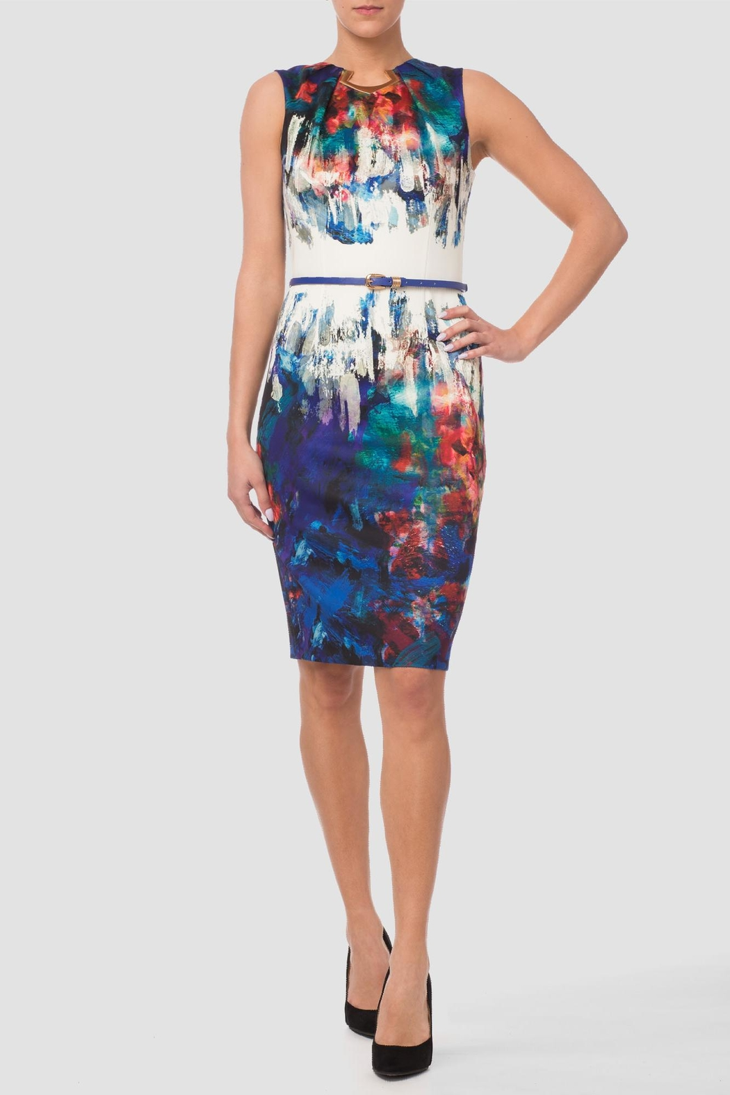 Joseph Ribkoff Impressionist Dress - Front Cropped Image