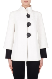 Joseph Ribkoff Ivory Textured Jacket - Product Mini Image