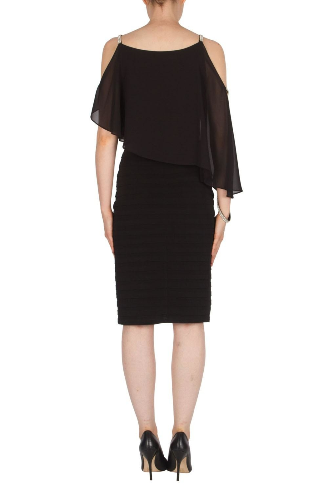 Joseph Ribkoff Jewel Accented Dress - Side Cropped Image