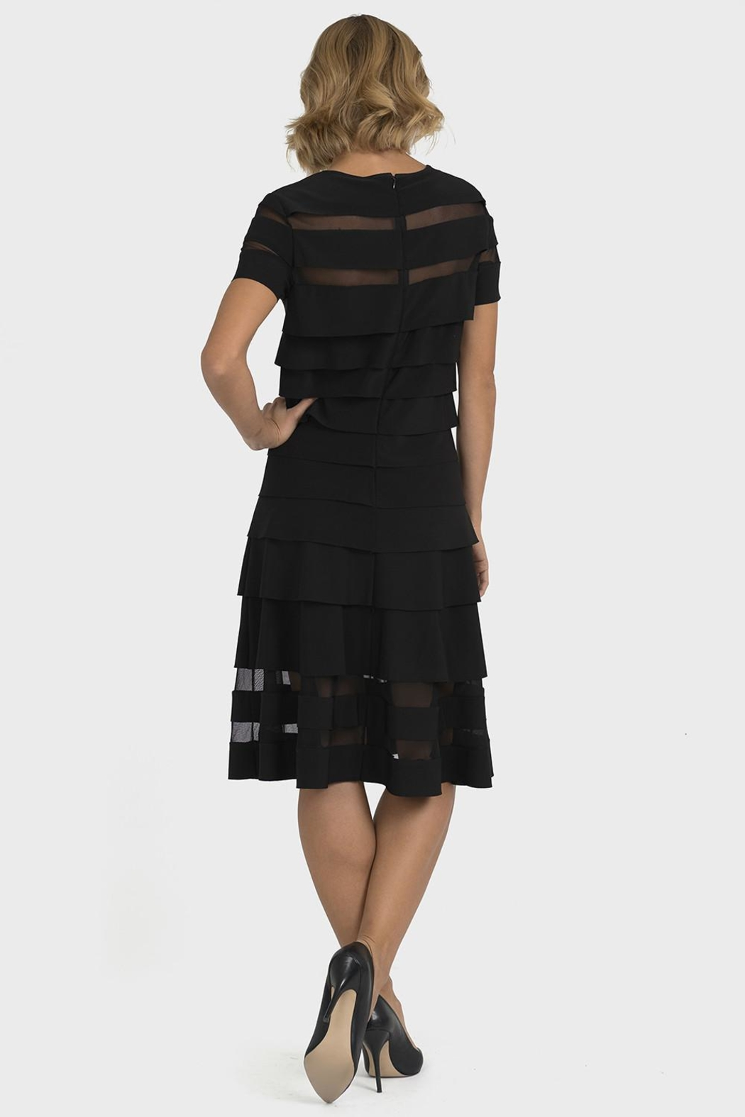 Joseph Ribkoff Jolene Banded Dress - Side Cropped Image