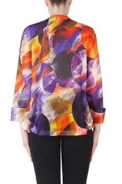 Shoptiques Product: Asymetrical Printed Jacket