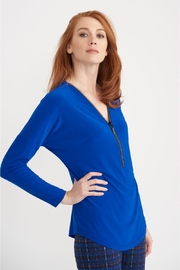 Joseph Ribkoff Julia Rhinestone-Zipper Top - Product Mini Image
