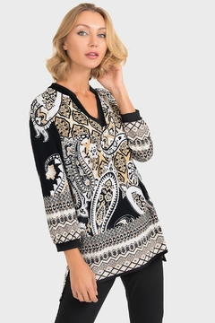 Joseph Ribkoff Julie Damascus-Print Top - Product List Image