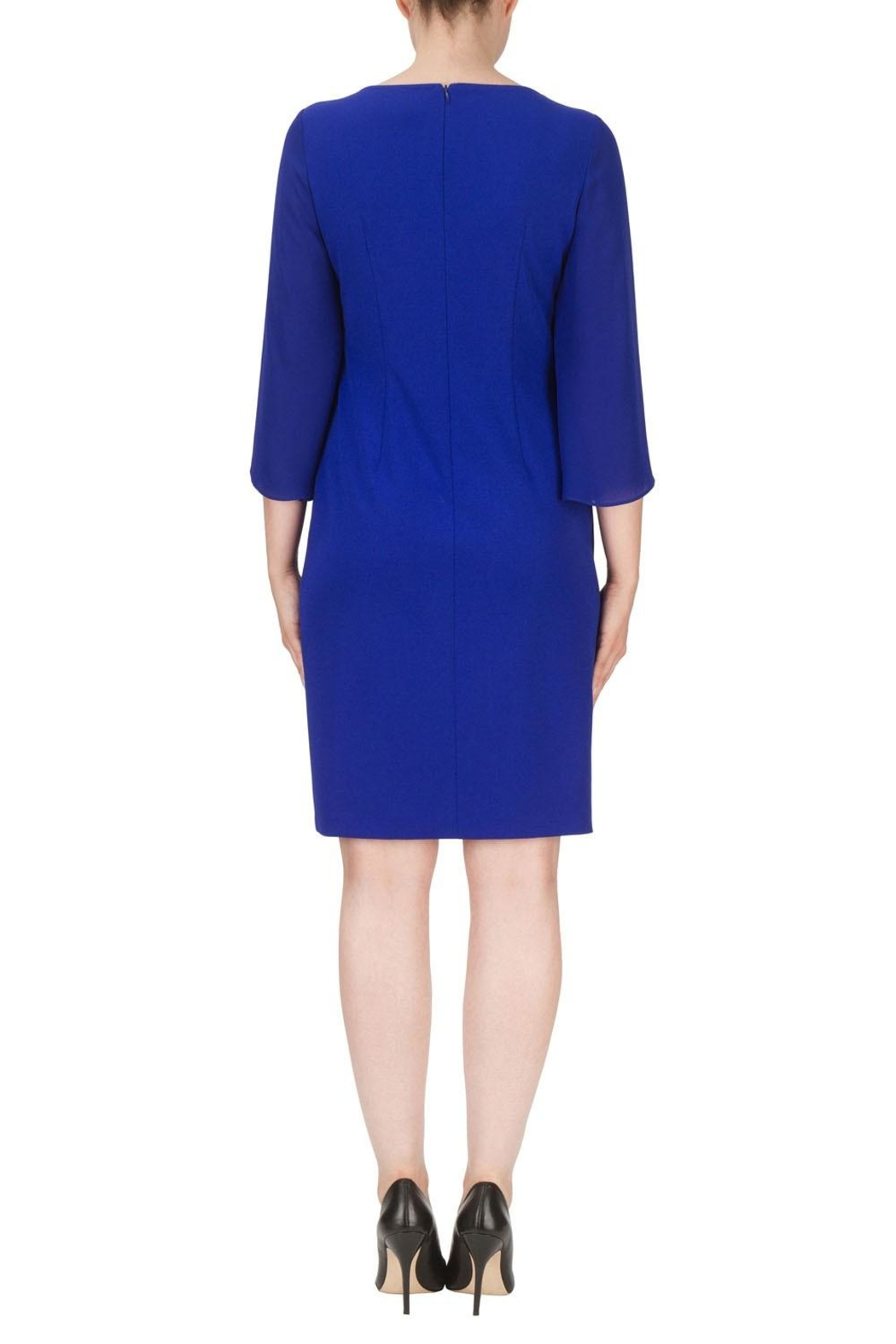Joseph Ribkoff Blue Knee Length Dress - Side Cropped Image