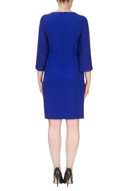 Joseph Ribkoff Blue Knee Length Dress - Side cropped