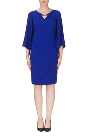 Joseph Ribkoff Blue Knee Length Dress - Front cropped