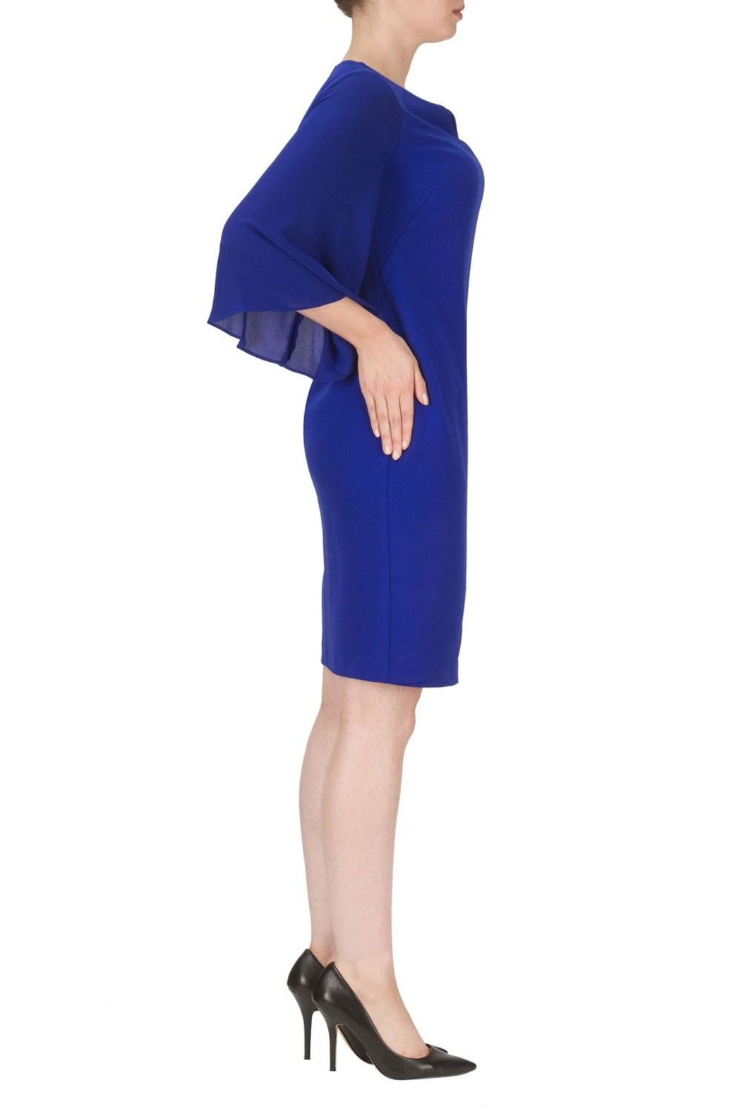 Joseph Ribkoff Blue Knee Length Dress - Front Full Image