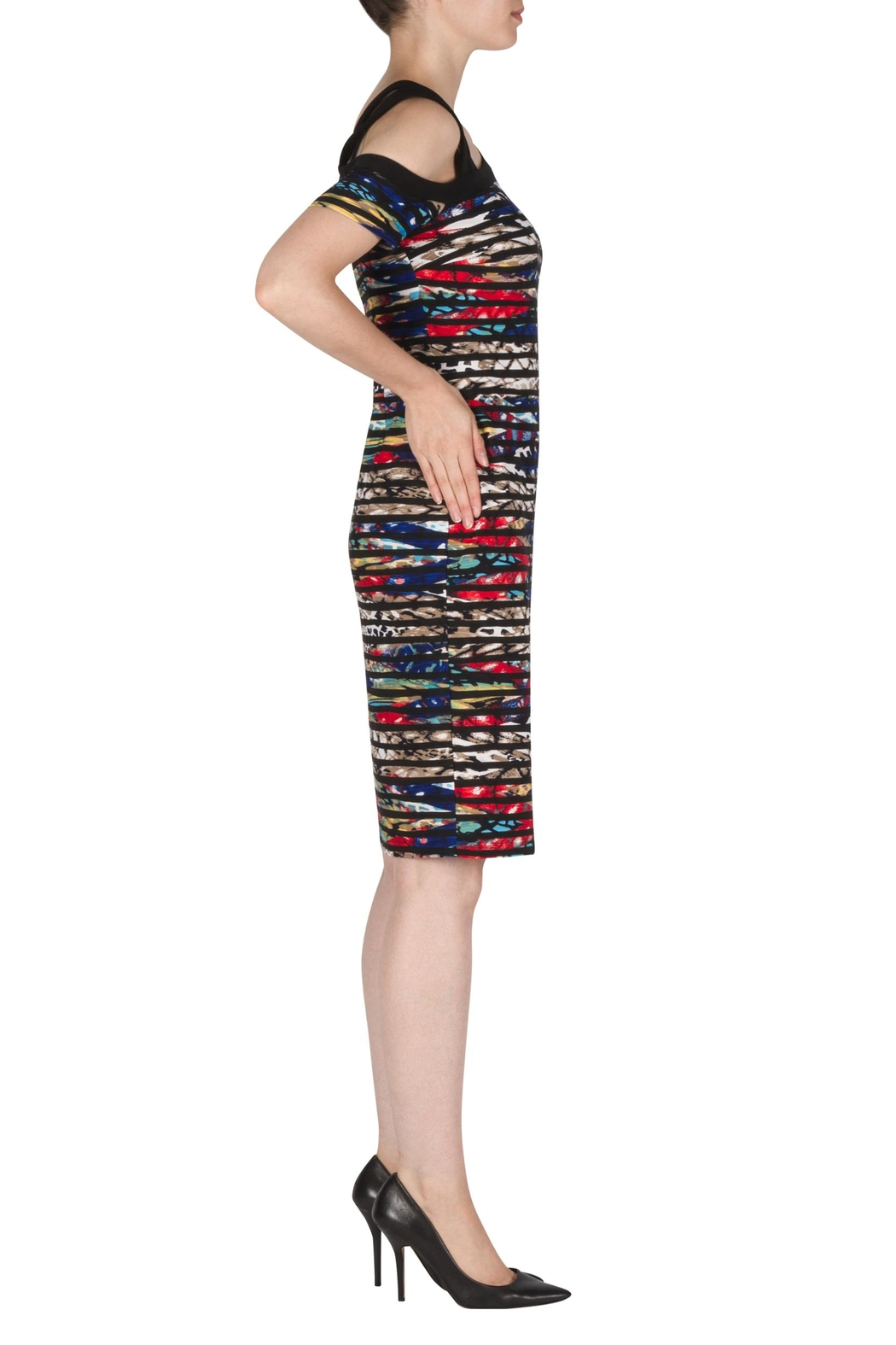 Joseph Ribkoff Kristin Multi-Colored Dress - Front Full Image