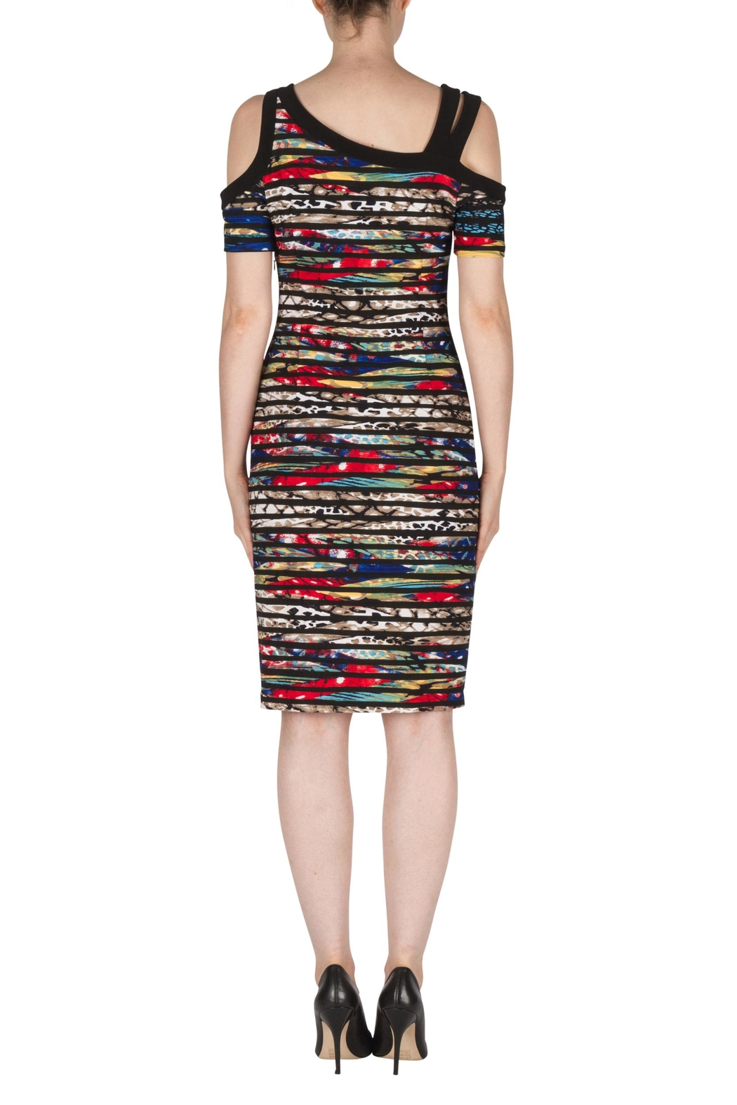 Joseph Ribkoff Kristin Multi-Colored Dress - Side Cropped Image