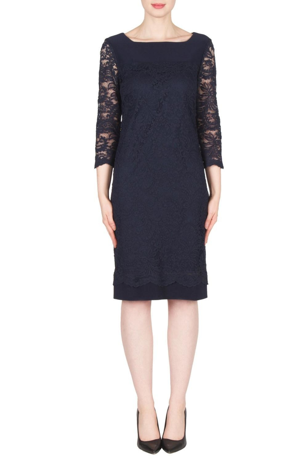 Joseph Ribkoff Navy Lace Dress from Canada by Chez Therese Clothing ...