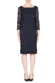Joseph Ribkoff Navy Lace Dress - Product Mini Image