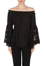 Joseph Ribkoff Lace Off Shoulder Top - Product Mini Image
