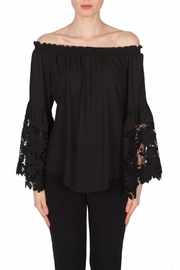Joseph Ribkoff Lace Peasant Blouse - Product Mini Image