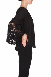 Joseph Ribkoff Lace Peasant Blouse - Side cropped