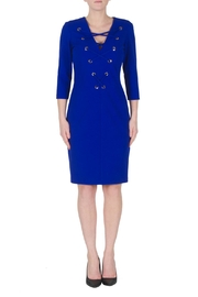 Joseph Ribkoff Midnight Lace Up Dress - Product Mini Image