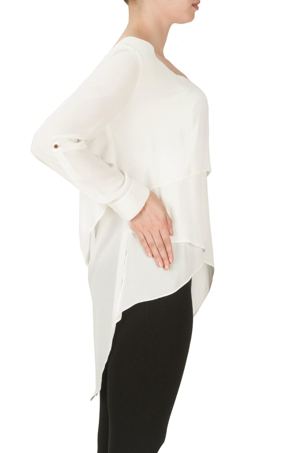Joseph Ribkoff Layer Cuffed Blouse - Front Full Image