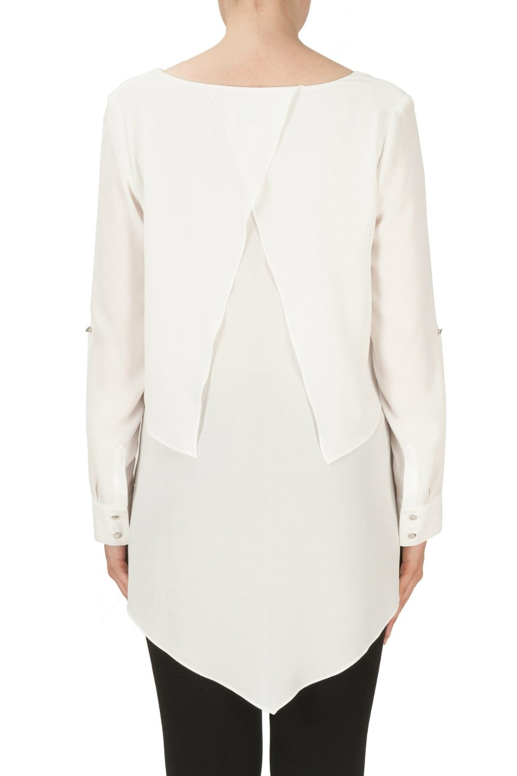 Joseph Ribkoff Layer Cuffed Blouse - Side Cropped Image