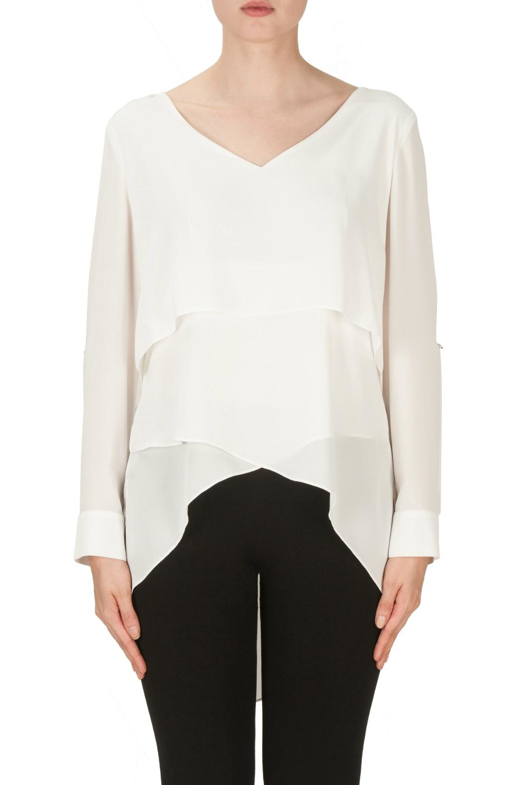 Joseph Ribkoff Layer Cuffed Blouse - Main Image