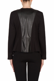 Joseph Ribkoff Leatherette Trimmed Jacket - Side cropped