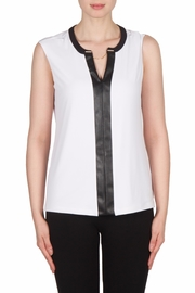 Joseph Ribkoff Leatherette Trimmed Top - Product Mini Image
