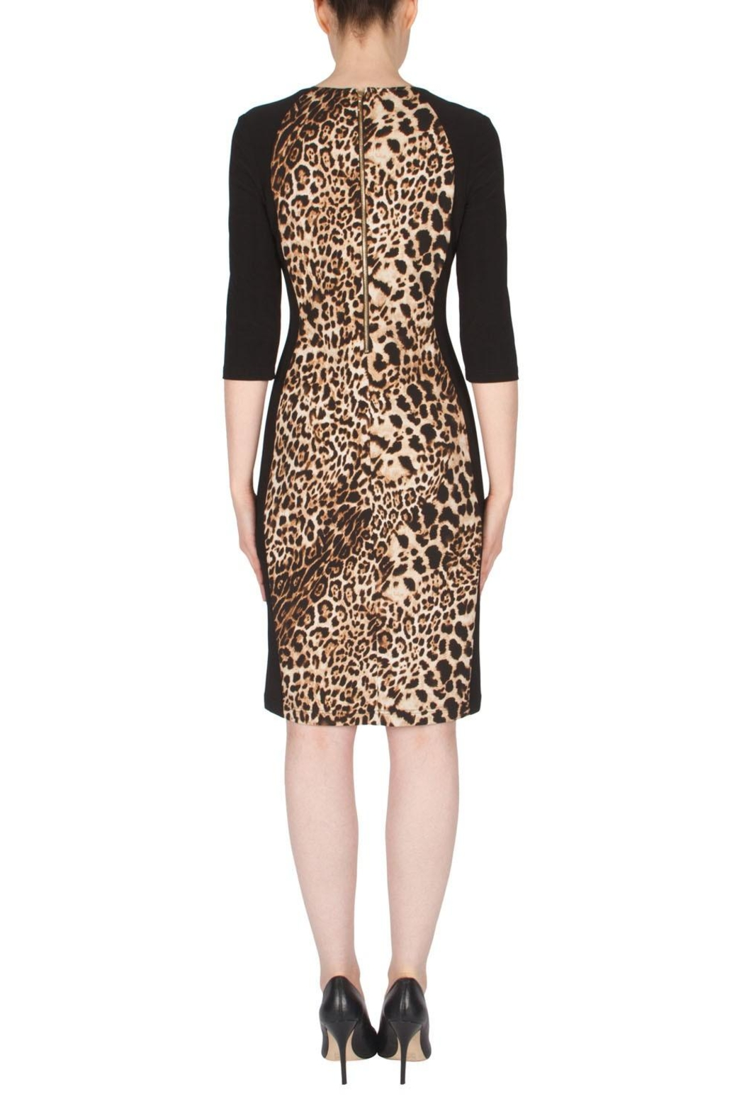 Joseph Ribkoff Leopard Print Dress - Side Cropped Image