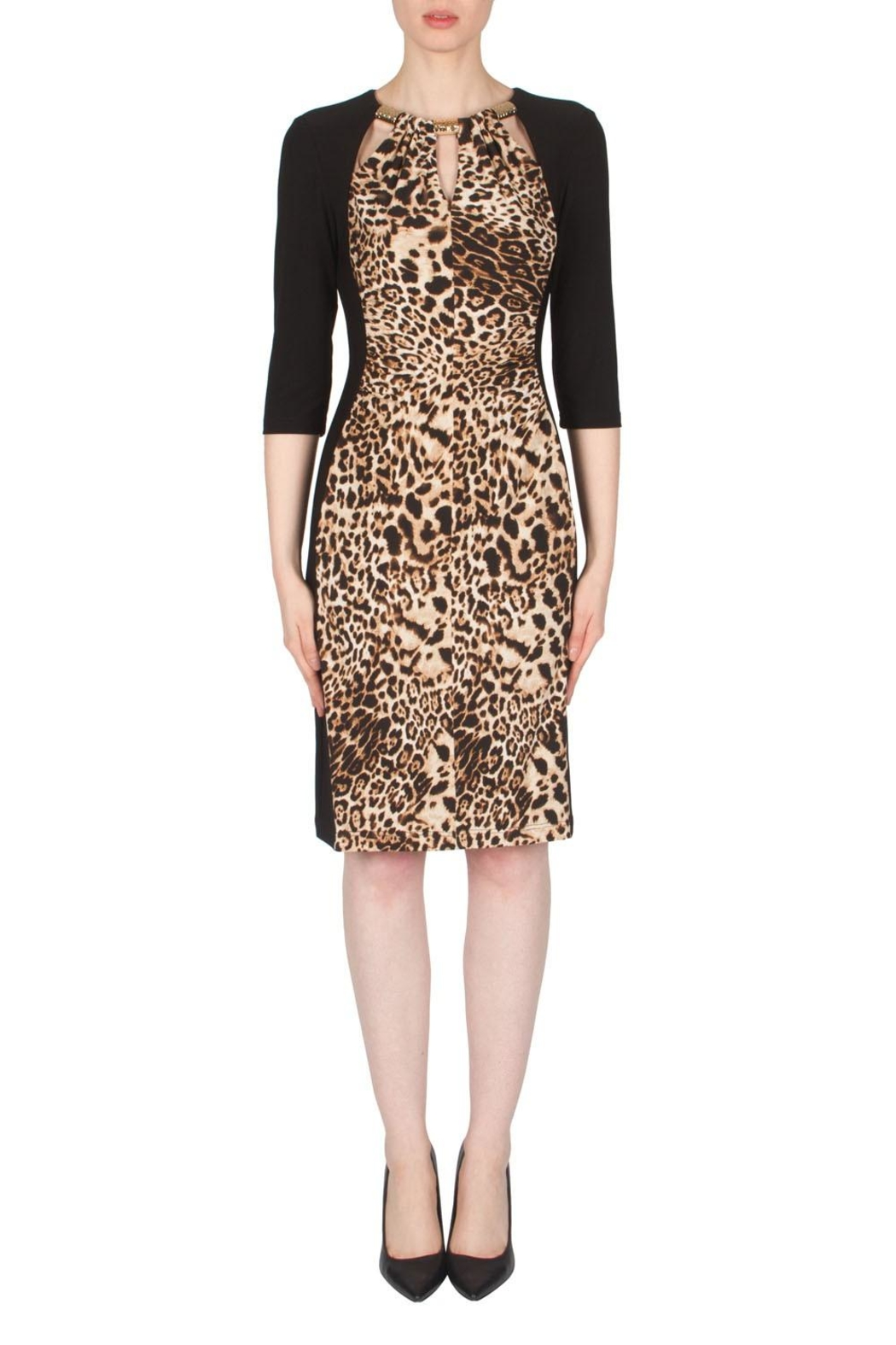 Joseph Ribkoff Leopard Print Dress - Main Image