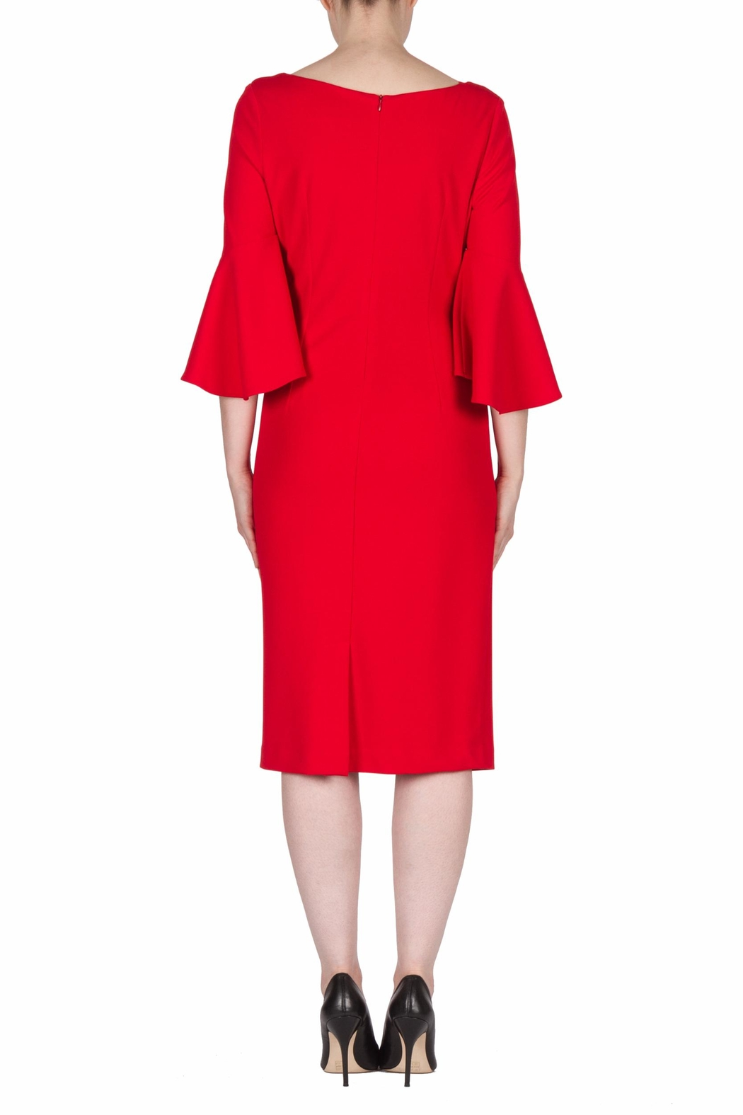 Joseph Ribkoff Lipstick Red Dress - Side Cropped Image