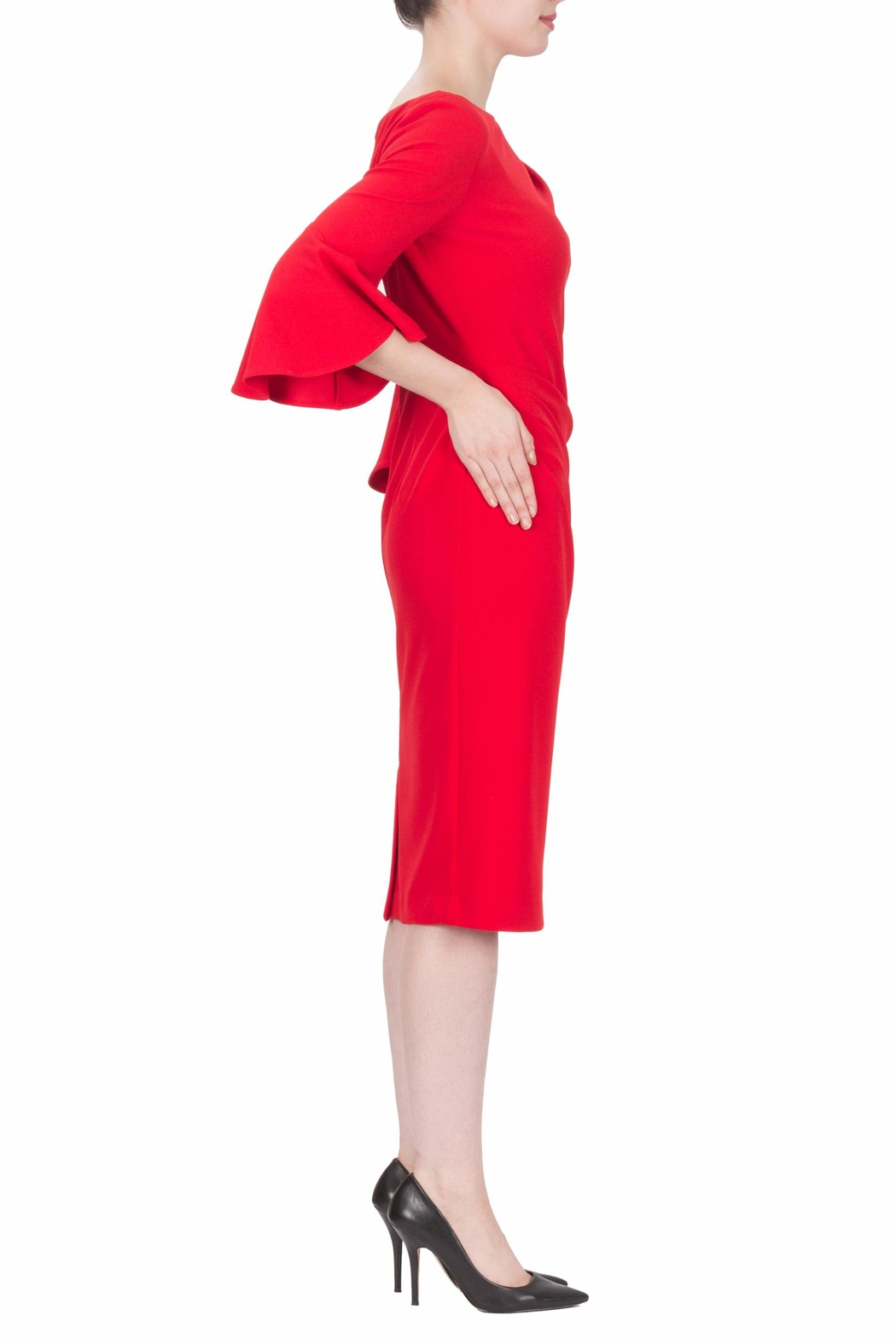 Joseph Ribkoff Lipstick Red Dress - Front Full Image