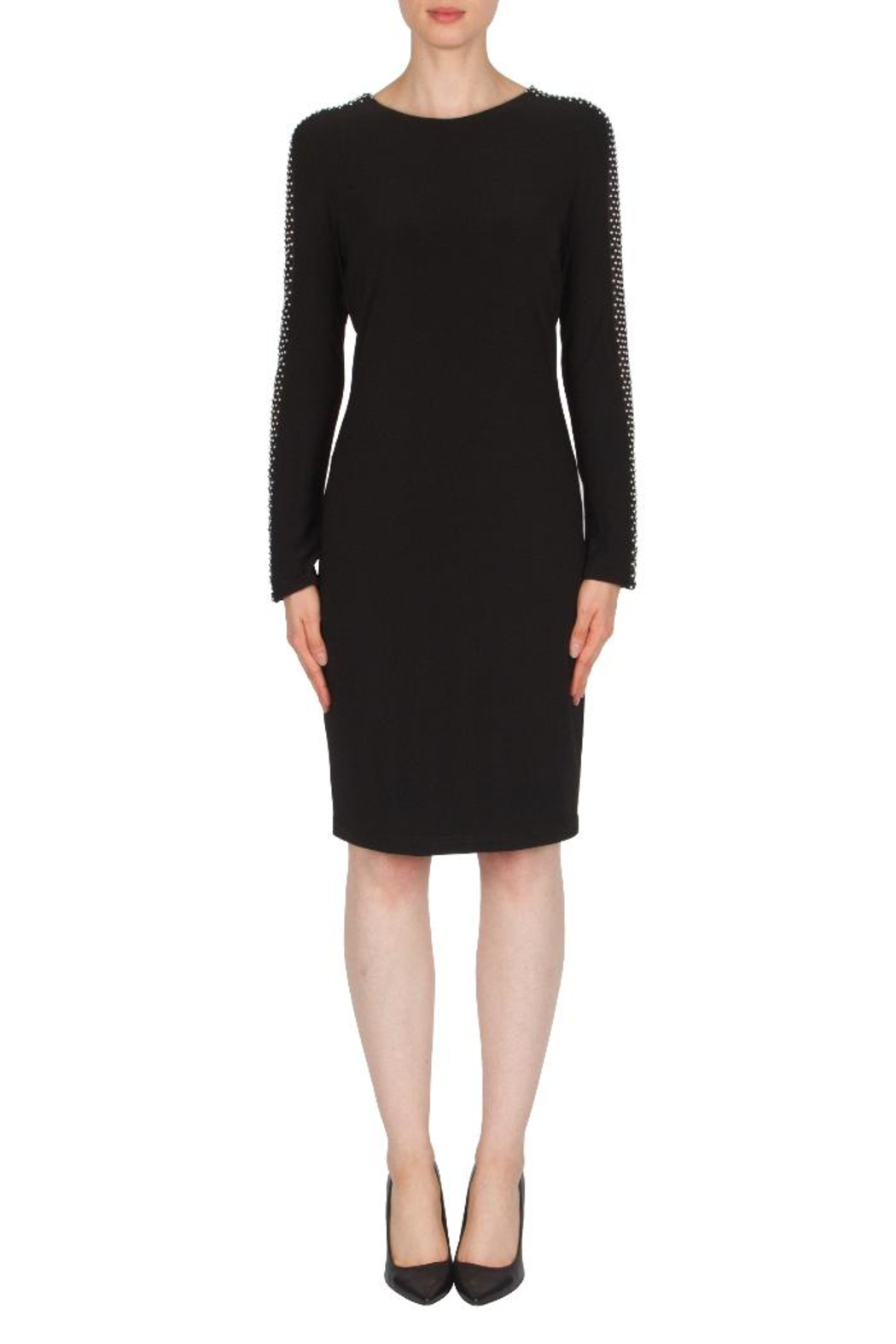 Joseph Ribkoff Studded Sleeve Dress - Main Image