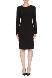 Joseph Ribkoff Studded Sleeve Dress - Front cropped
