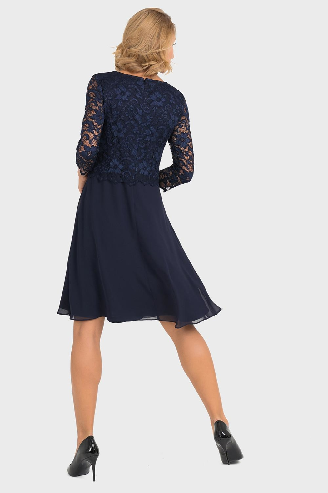Joseph Ribkoff Marie Lace-Top Dress - Side Cropped Image