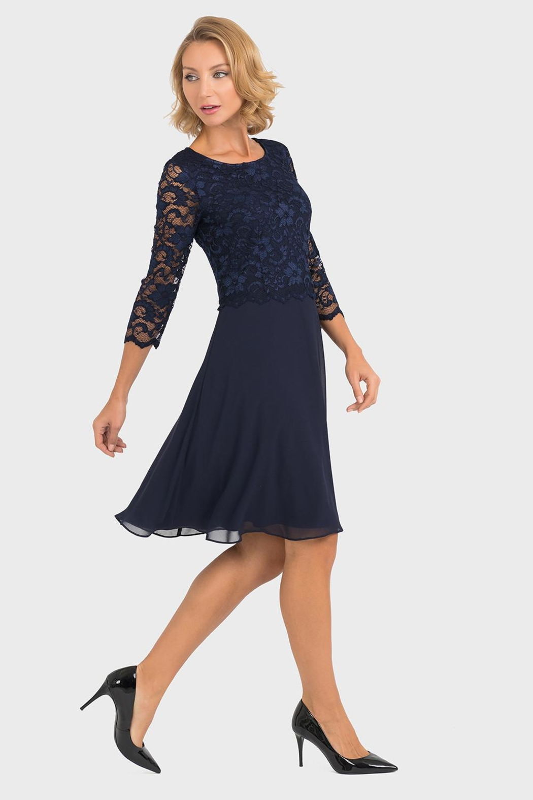 Joseph Ribkoff Marie Lace-Top Dress - Front Full Image
