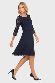 Joseph Ribkoff Marie Lace-Top Dress - Front full body