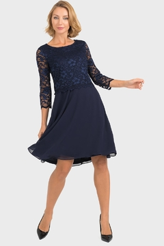 Joseph Ribkoff Marie Lace-Top Dress - Product List Image