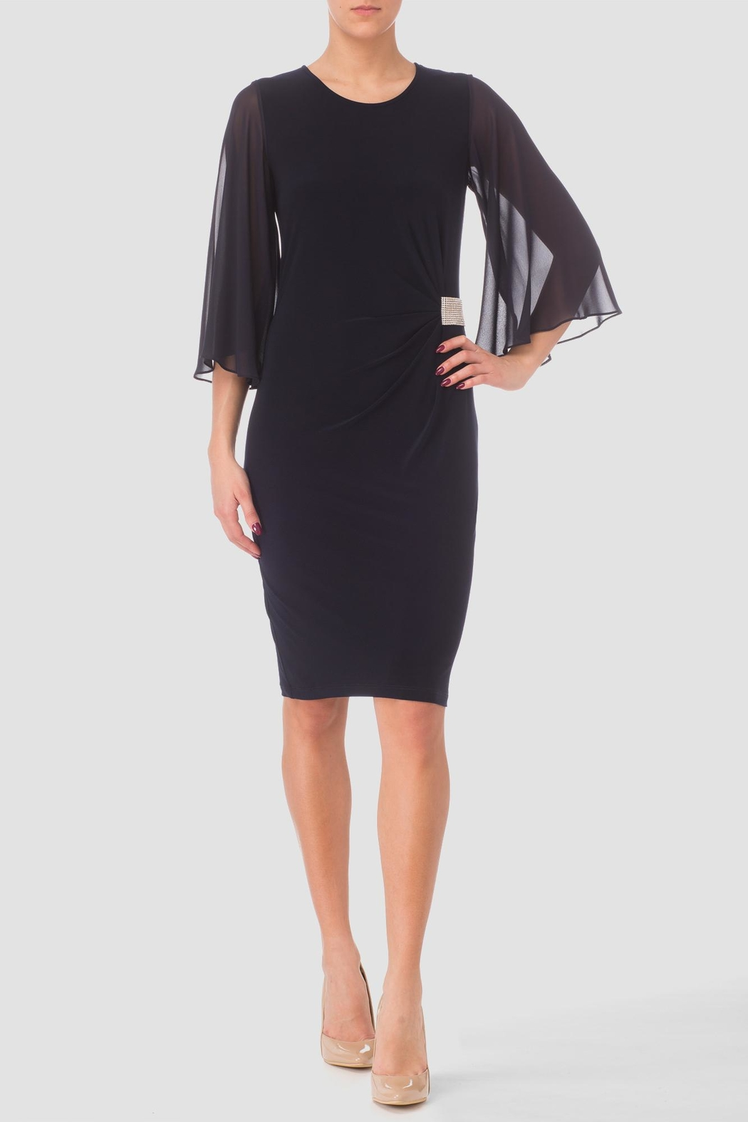 Joseph Ribkoff Marilyn Navy Dress - Front Cropped Image