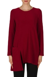 Joseph Ribkoff Red Asymetricaltunic - Front cropped