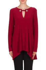 Joseph Ribkoff Merlot Tunic Top - Product Mini Image