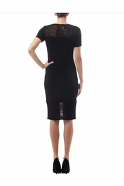 Joseph Ribkoff Mesh Detail Black Dress - Front full body