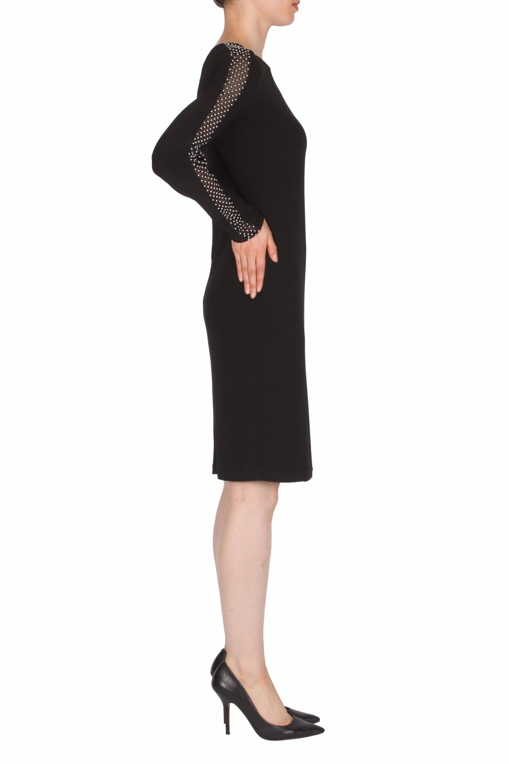 Joseph Ribkoff Mesh Sleeve Detail Dress - Front Full Image